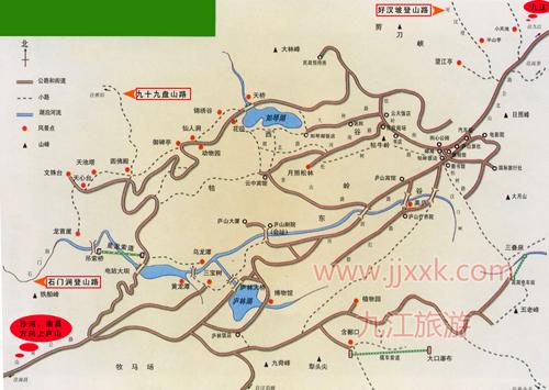 庐山旅游地图高清版